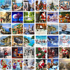 Scenery Xmas DIY Acrylic Oil Painting On Linens Art Decor By Number Kit