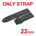 22mm Black/Gray/Navy Green Canvas Fabric Leather Strap Band for Breitling Watch