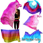 "2.1m*0.9m(83""x35""), Various 5mm paj silk belly dance silk veil for Children play"