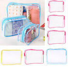 Waterproof PVC Travel Storage Bags Cosmetic Packing Cube Luggage Organizer Pouch