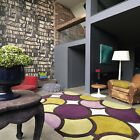 NEW BEST QUALITY DESIGNER HARLEQUIN QUALITY BRANDED BUBBLE PURPLE GREEN RUG