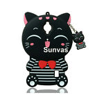 For Huawei Y635 Silicon Lucky Cat Cartoon Soft Back Cover Mobile Phone Case Skin