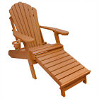 Deluxe Outer Banks Poly Adirondack Chair w/ Integrated Footrest- Standard Colors cheap