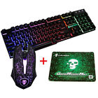 TECLADO GAMING RETROILUMINADO USB MULTIFUNCION + 2400DPI RATON + ALFOMBRILLA