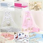 BEDDING SET FOR COT & COT BED 4, 7,9, 11, COT TIDY, DUVET, CANOPY -100%COTTON