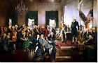 Stretched Canvas - Signing the Constitution United States Painting Reproduction
