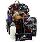 Внешний вид - Jurassic World Boys 5 piece Backpack and Snack Bag School Set JRCF535YT