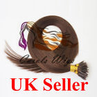 "18"" 1g Nano Ring Dark Brown Russian Virgin Double Drawn Human Hair Extensions UK"