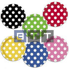 "8 Polka Dot Spot Spotty Style Party Supplies Tableware 7"" Paper Plates Colours"