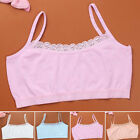 Kids Girls Underwear Soft Padded & Wireless Bra Lace Sport V