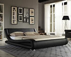 ITALIAN MODERN DESIGNER DOUBLE/KING SIZE FAUX LEATHER BED SPRING MEMORY MATTRESS