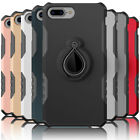 For Apple iPhone 7 / 7 Plus Heavy Duty Bumper Ring Stand Car Holder Case Cover