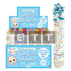 20cm Its A Boy Confetti Shooter Party Time Birthday Wedding Mixed Tissue Paper