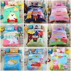 Cartoon Characters For Kids Gift Duvet Cover Twin Size Pillowcase Bedding Set