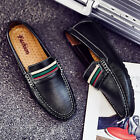 Mens Moccasin Leather Shoes Driving Leisure Boat Shoes Slip On Fashion Loafers