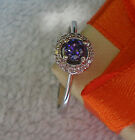 NEW CUTE RING !!! 4.00MM STONE TANZANITE ENGAGEMENT 925 STERLING SILVER.