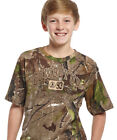 Cowboy Up Boys Brown Camo Cotton S-S T-Shirt Realtree Rodeo