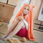 Anime Himouto! Umaru-chan Cosplay Daily Blanket Quilt Cloak Hoodies Flannel Coat