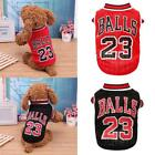 Summer Numbers Basketball Uniforms Dog Clothes Vest Sportswear Pet Puppy Outfit