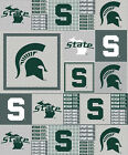Michigan State Fleece Throw Blankets-Michigan State Spartans Lap Blankets