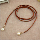 Braided Rope Belt For Women Thin Accessory Waistband Simple Casual Fashion Strap