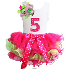 Girls Ruffled Tutu & 1st - 6th Birthday Tank Top 2pcs Dress Outfit