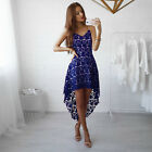 Women Lace Floral Formal Dress Prom Evening Party Cocktail Bridesmaid Wedding US