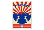 Chicago Cubs Vintage Baseball Poster on Ebay