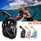 Full Face Snorkeling Mask Scuba Diving Swimming Snorkel Breather Pipe Gacloz New