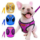 Sparkling Sequins Bling Dog Harness Vest and Matching Leash for Chihuahua Breeds