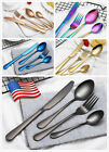 4-32x Iridescent Black Cutlery Set Spoon Forks Stainless Steel Dining USA