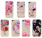 Shockproof Silicone Floral Flower Case Clear Cover Iphone 5 6 7 8 6+ 7+ 8+ Xs Xr
