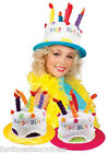 Happy Birthday Cake Hat With Candles Fancy Dress Birthday Party Hat Blue