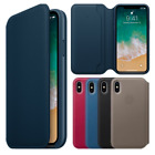 Leather Folio Smart Flip Case Cover Card Wallet for Apple iPhone X