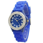 Men's/Women's Jelly Silicone Band Analog Wristwatch, Small Face and Rhinestones