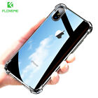For Apple iPhone X / 10 Shockproof TPU Side + Hard Transparent Back Case Cover