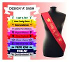 Personalised pageant Sash Sashes Custom Made Princess Winner Any Text Name