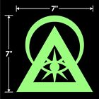 Illuminati Symbol Sticker Decal | Multiple Options Including Glow In The Dark