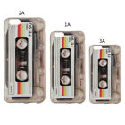 Chic 3D Cassette Tape Pattern TPU Phone Back Case Cover For iPhone 5S 6 6S Plus