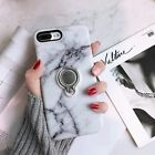For iPhone X 6 7 8 Plus Phone TPU Rubber Case Skin Cover With Ring Stand Holder