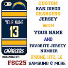 San Diego Chargers NFL Phone Case Cover for iPhone 7 PLUS iPhone 6s iPhone 5 $27.98 USD