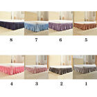Polyester QueenKingTwin US Size Bed Skirt Bedroom Bedding Bed Wrap Cover Ruffle image