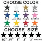 Star Stickers Pick Your Size And Color Removable Indoor Matte Vinyl Wall Decals.
