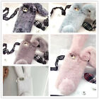 3D Phone Case Bling Rabbit Fur Plush Shell Phone Case Cover For iPhone Fashion