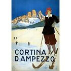 Cortina D'ampezzo Skiing Travel Advertisement Vintage Repro Poster $16.99 USD on eBay