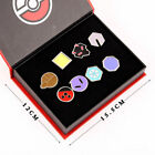 8pcs Pokemon Anime Kanto League Gym Badge Cosplay Metal Pin Brooch Boxed Gift UK