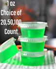 1oz Jello Jelly Shot Souffle Portion Sample Cups with Lids Option, Clear Plastic
