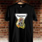 TRIUMPH MOTORCYCLES LOGO T-SHIRT Black Size S M L XL XXL $19.0 USD on eBay