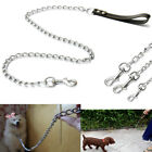 4FT Pet Dog Puppy Leash Leather Strap Lead Handle Metal Heavy Duty Chain US