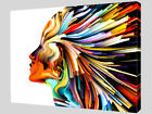 Modern Abstract Rainbow Face Canvas Wall Art Picture Print A4 A1 A2 A3